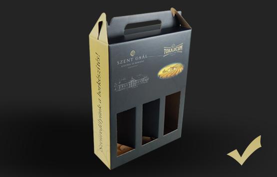 tertos esztétikus boros doboz